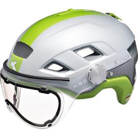 KED B-Vis Helmet Pearl Green